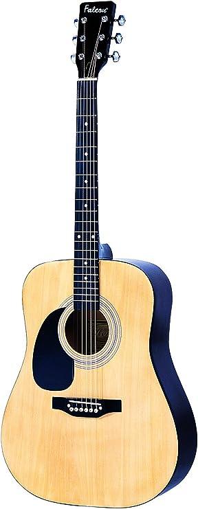 Falcon LFG100N - Guitarra acústica con cuerdas metálicas (tilo ...