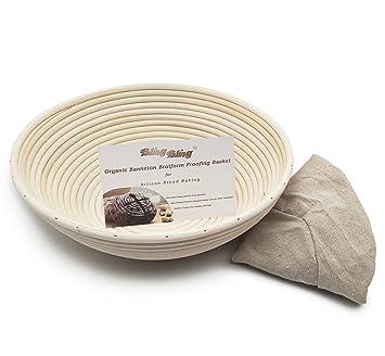 obeauty blanco ratán Sourdough Banneton Brotform Pan Cesta de pruebas masa con libre gamuza de tejido