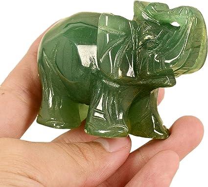 Elefantfigur aus natürlichem grünen Jadestein