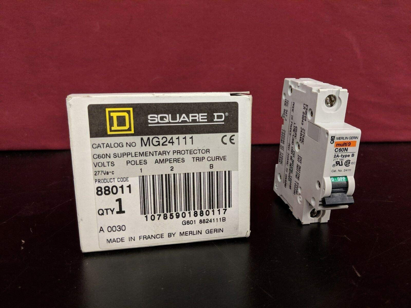 labtechsales Square D Merlin Gerin MG24111 C60N Supplementary Protector Nib NOS