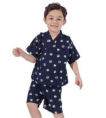 ebf88ace7a2b5 Dizoon (ディゾン) 甚平 男の子 子供服 浴衣 着物 春夏 和服 お祭り パジャマ 男の子
