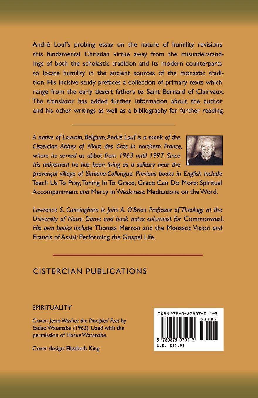 the way of humility monastic wisdom series andre louf ocso the way of humility monastic wisdom series andre louf ocso lawrence s cunningham 9780879070113 amazon com books