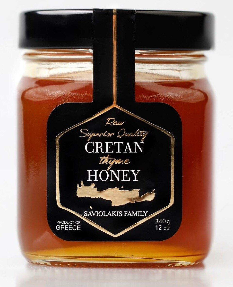 CRETAN HONEY from Sfakia Crete Greece Ultra Premium Raw Thyme Honey By Saviolakis Family
