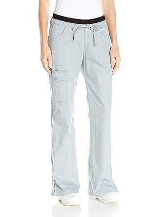 08d88542f0b Cherokee Women's Workwear Core Stretch Low Rise Cargo Scrubs Pant, Grey,  XX-Small