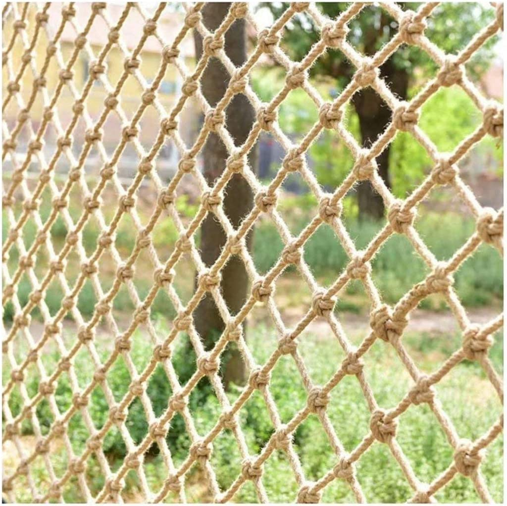 Safety Rope Netting Climbing, Climbing Net for Kids Stair Protection Fence Decor Mesh Rope net for Playground Mesh 15cm/5.9in Cargo Rope Climbing net(3.33.3ft)