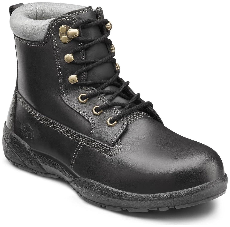Dr. Comfort Men's Protector Black Steel Toe Diabetic Boots
