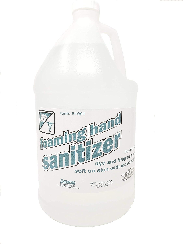 Foaming Hand Sanitizer No Alcohol Dye and Fragrance Free 1 Gallon - 128 FL OZ