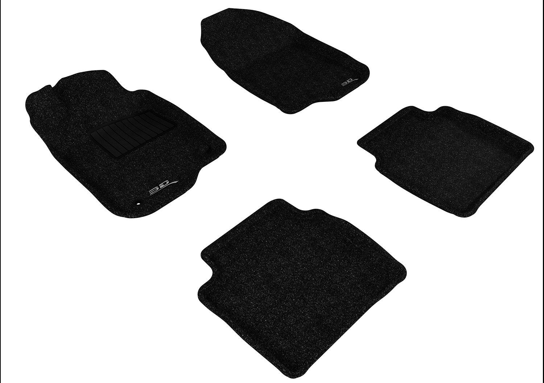 3D MAXpider Second Row Custom Fit Floor Mat for Select Chevrolet Malibu Models Gray L1CH04822201 Classic Carpet