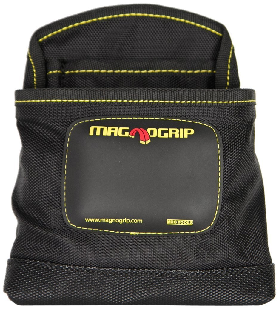 MagnoGrip 002-405 12 Pack 3-Pocket Magnetic Nail Pouch, Black