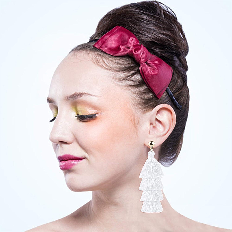 ORAZIO 6-8 Pairs Tassel Earrings for Women Girls Bohemian Fringe Earrings