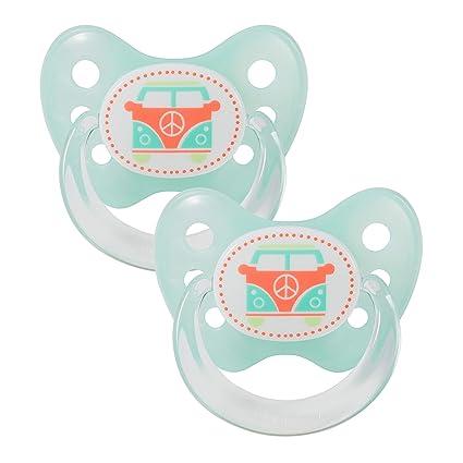 denti Star® látex Chupete (2 unidades, incluye 2 tapones - nuckel ...