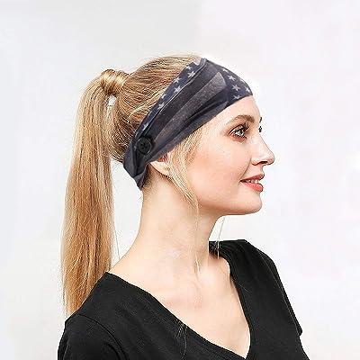Men Women Sports Sweat-absorbent Breathable Button Headband Hair Accessories HOT