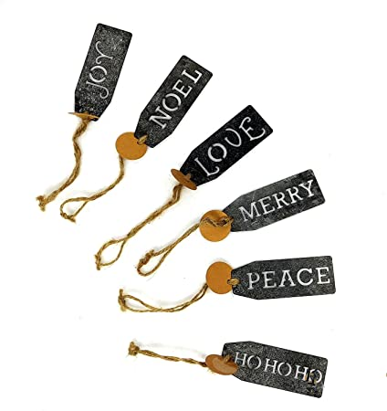 decorative metal christmas gift tag ornament set cut out - Decorative Christmas Gift Tags