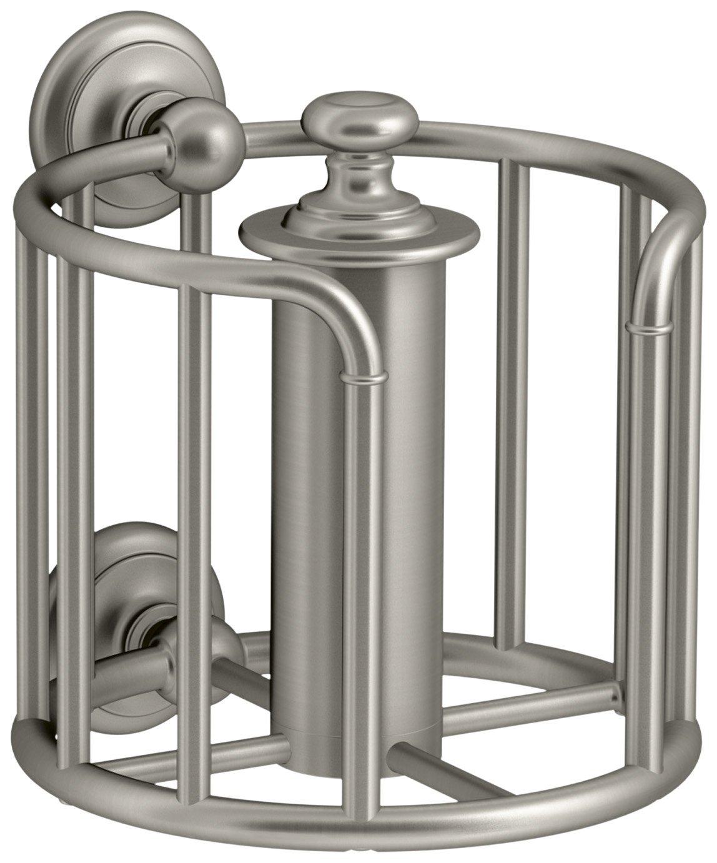 KOHLER K-72576-BN Artifacts Toilet tissue carriage, Vibrant Brushed Nickel