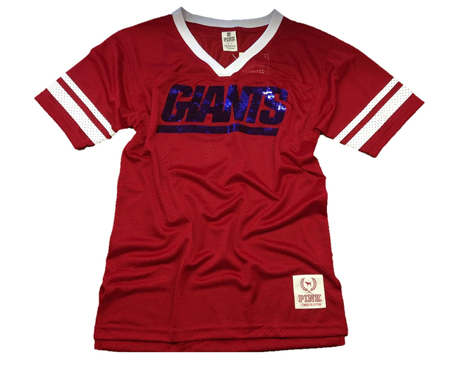 detailed look 64a30 db7f1 Victoria's Secret PINK New York Giants Bling Jersey T-shirt ...
