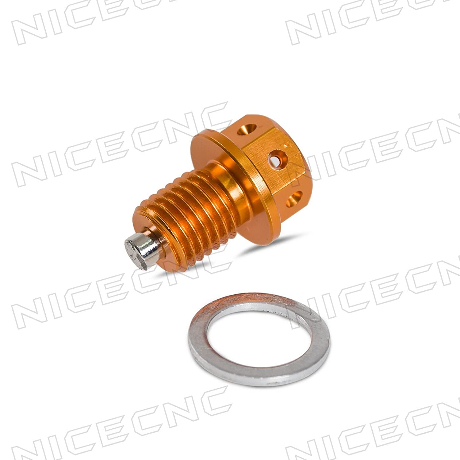 NICECNC 14mm * P1.5 Gold Magnetic Oil Drain Plugs Bolt YZF-R1 R6 R6S FZ1 FZ6 FZ8 MT01/07/09 CNC