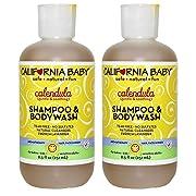California Baby Calendula Shampoo & Body Wash, 8.5 Ounce (Pack of 2)