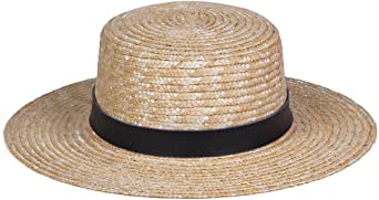 Lack of Color Women's Spencer Leather Banded Straw Boater Sun Hat