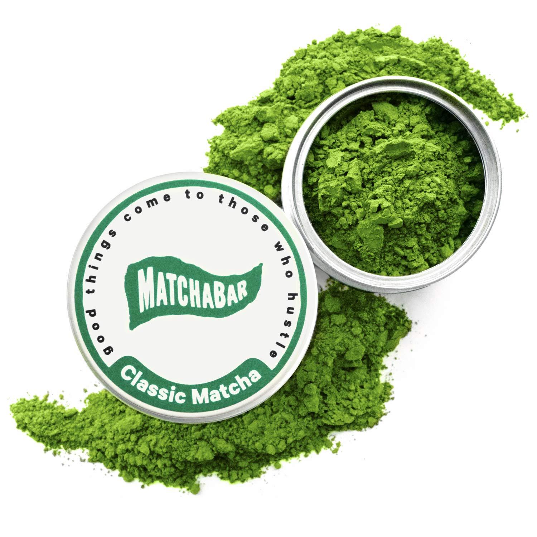MatchaBar Matcha Green Tea Powder | Ceremonial Grade Japanese Green Tea with Organic Caffeine & Antioxidants | For Sipping or Latte | 30g (1oz) Starter Tin