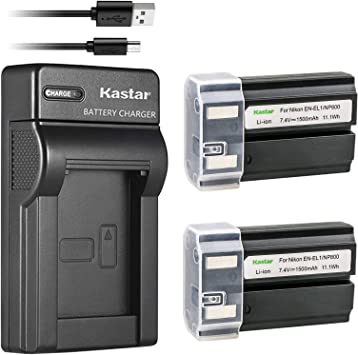 1-Pack Kastar EN-EL1 Battery and Charger Kit for Nikon ENEL1 Minota NP-800 and Nikon Cooipix 4300 4500 4800 5400 5700 775 8700 880 885 995 Coolpix E880 and Konica Minota DG-5W Dimage A200 Cameras