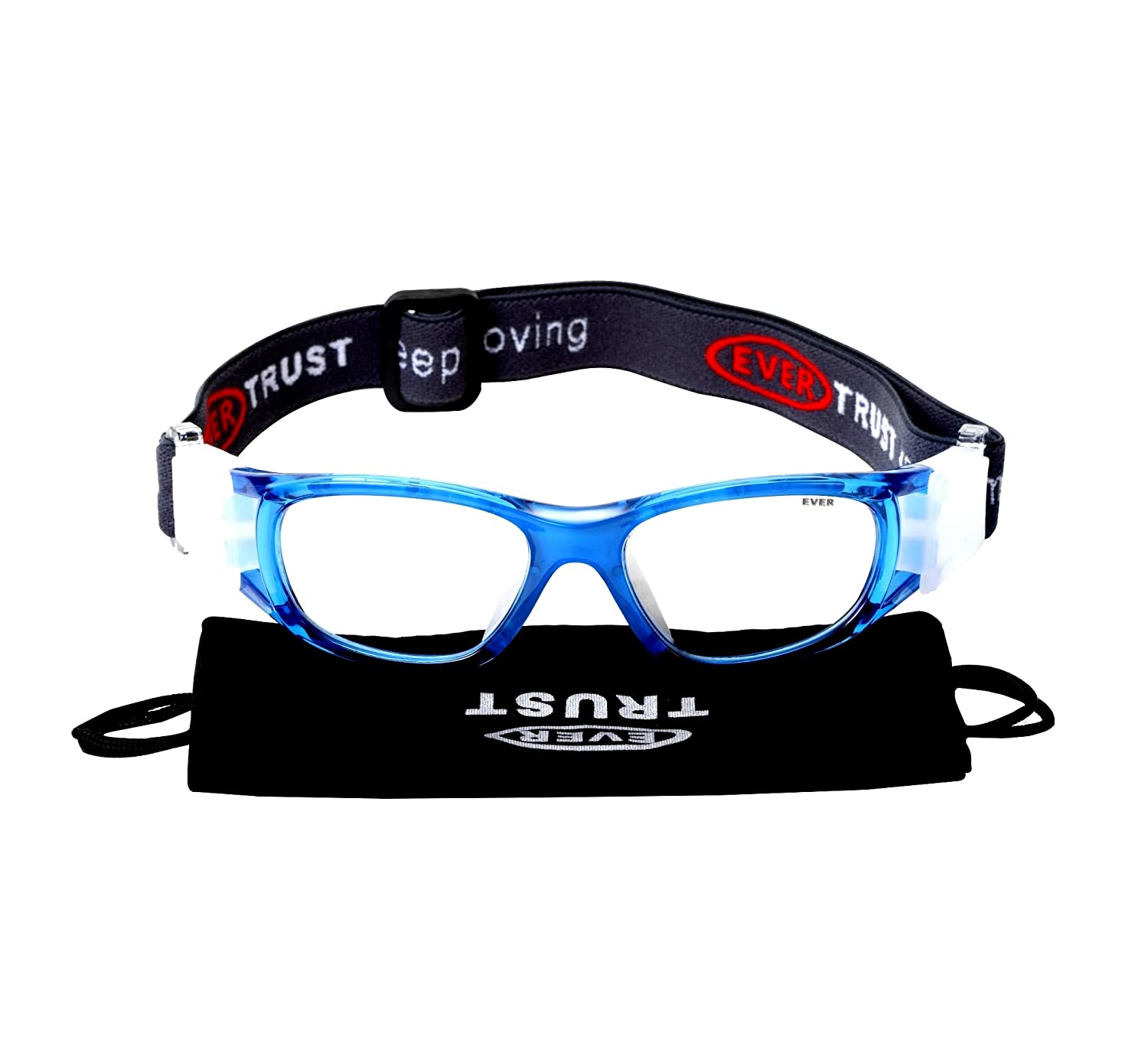 da12f936ff EverTrust EVERSPORT Kids Sports Goggles Safety Protective Basketball Glasses  for Children with Adjustable Strap for Basketball Football Volleyball  Hockey ...