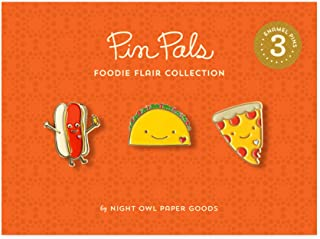 product image for Night Owl Paper Goods Gift Set Hot Dog/Taco/Pizza Enamel Pin (Set of 3), Multi