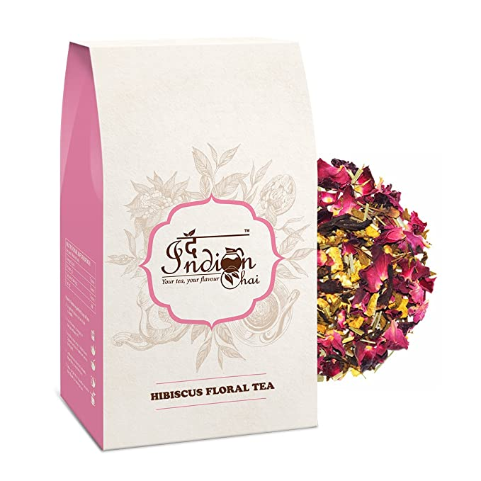 The Indian Chai Hibiscus Floral Tea 100 Grams Amazonin Grocery