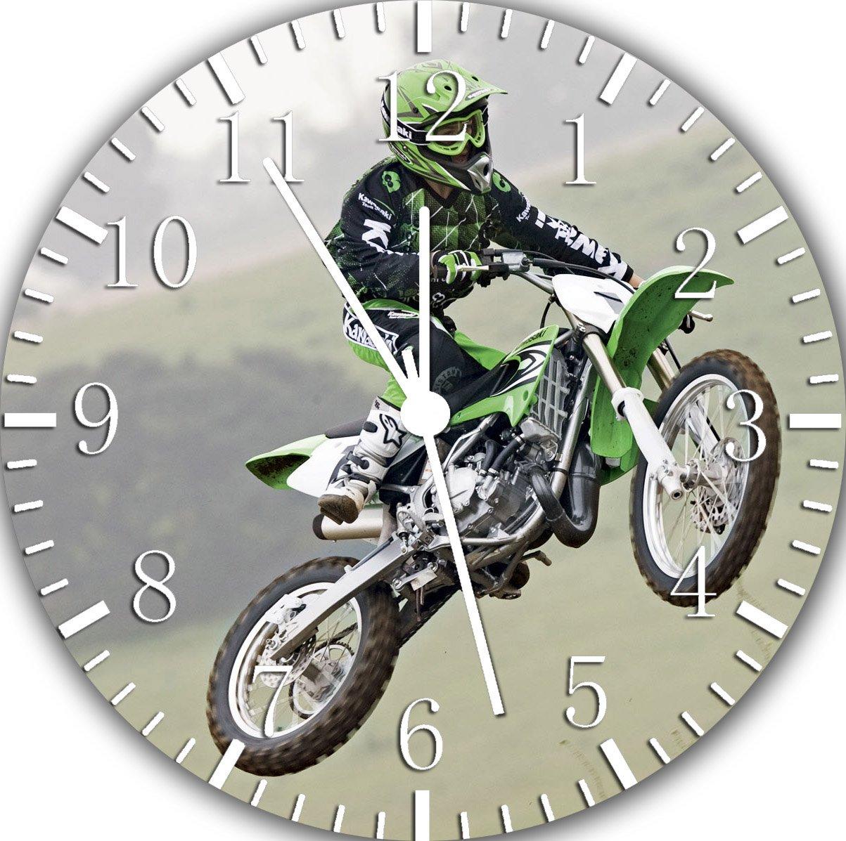 Motor Cross Frameless Borderless Wall Clock W394 Nice For Gift or Room Wall Decor
