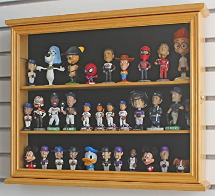Display Case Cabinet Stand For 4u0026quot; Mini/SMALL Bobble Head, Wobbler, Toy