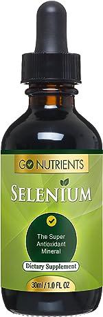 Go Nutrients Selenium 200 mcg Supplement - Yeast Free Liquid Drops