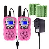 Amazon Price History for:Swiftion Rechargeable Kids Walkie Talkies 22 Channel 0.5W FRS/GMRS 2 Way Radios with Charger and Rechargeable Batteries (Pink, Pack of 2)