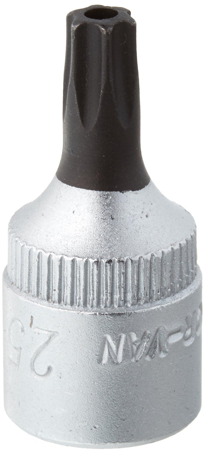 Elora 3243010252000 Screwdriver socket 1/4'' for TORX safety screws Size 25