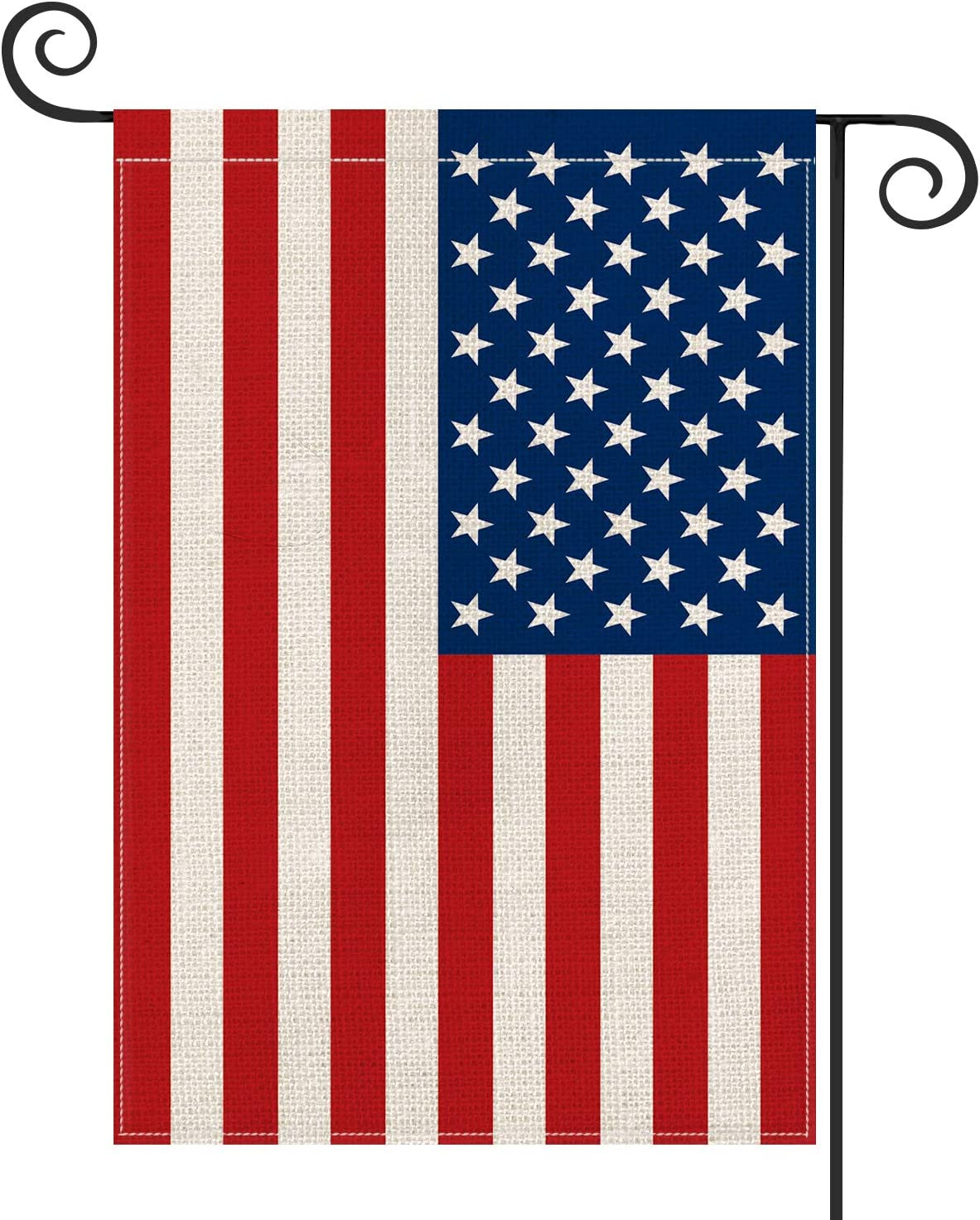 AVOIN American US Flag Garden Flag Vertical Double Sided, Patriotic Flag of The United States Stars and Stripes Old Glory Yard Outdoor Decoration 12.5 x 18 Inch