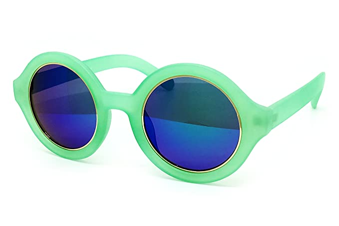 9ceb58d147 O2 Eyewear JP7148 Mirrored Candy Revo Matte Finish Flash Retro Funky  Sunglasses (Matte Finish