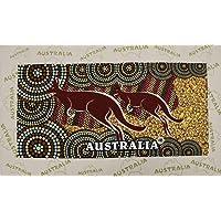 New Cotton Australia Kitchen Tea Towels Linen Teatowels Dish Cloth Souvenir Gift, Aboriginal Kangaroo A