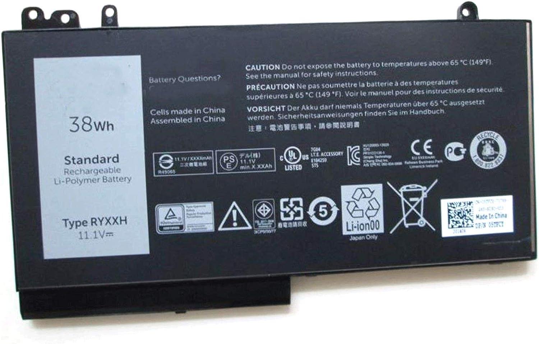 SUNNEAR RYXXH 38Wh Battery Replacement for DELL Latitude 3150 3160 Latitude 12 5000 E5250 14 E5450 15 E5550 Series Laptop 09P4D2 9P4D2 05TFCY 0YD8XC 11.1V