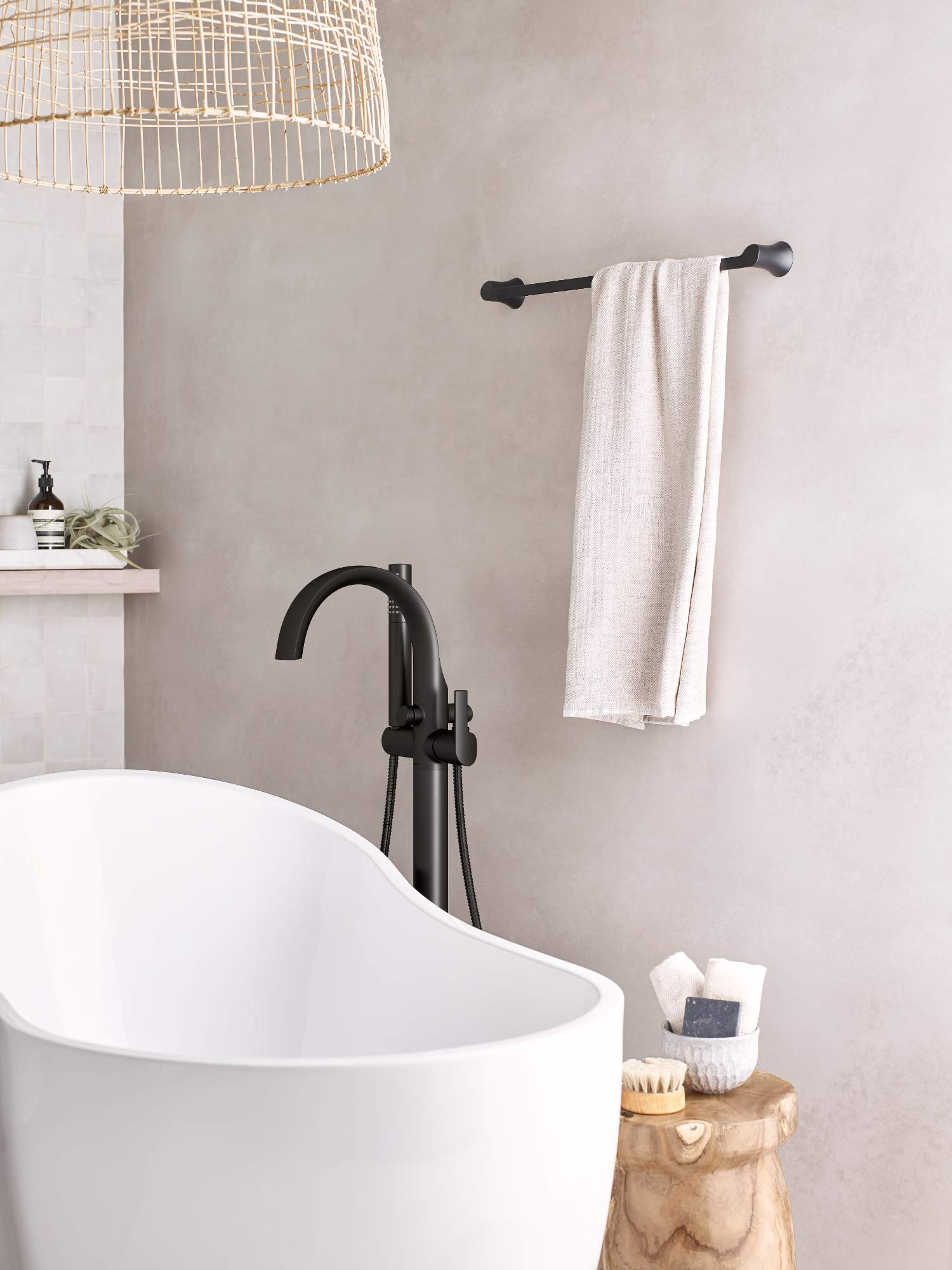 Moen YB0224BL Doux Collection 24'' Towel Bar Matte Black by Moen (Image #3)