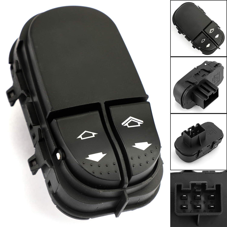 Artudatech Interruptor de ventana para coche con bot/ón de control el/éctrico compatible con F-O-R-D Focus MK1 1998-2005