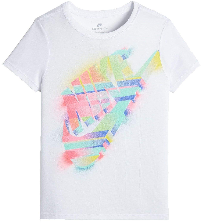 f69e210a Amazon.com: Nike Girl's Sportswear Painted Futura T-Shirt: Sports & Outdoors