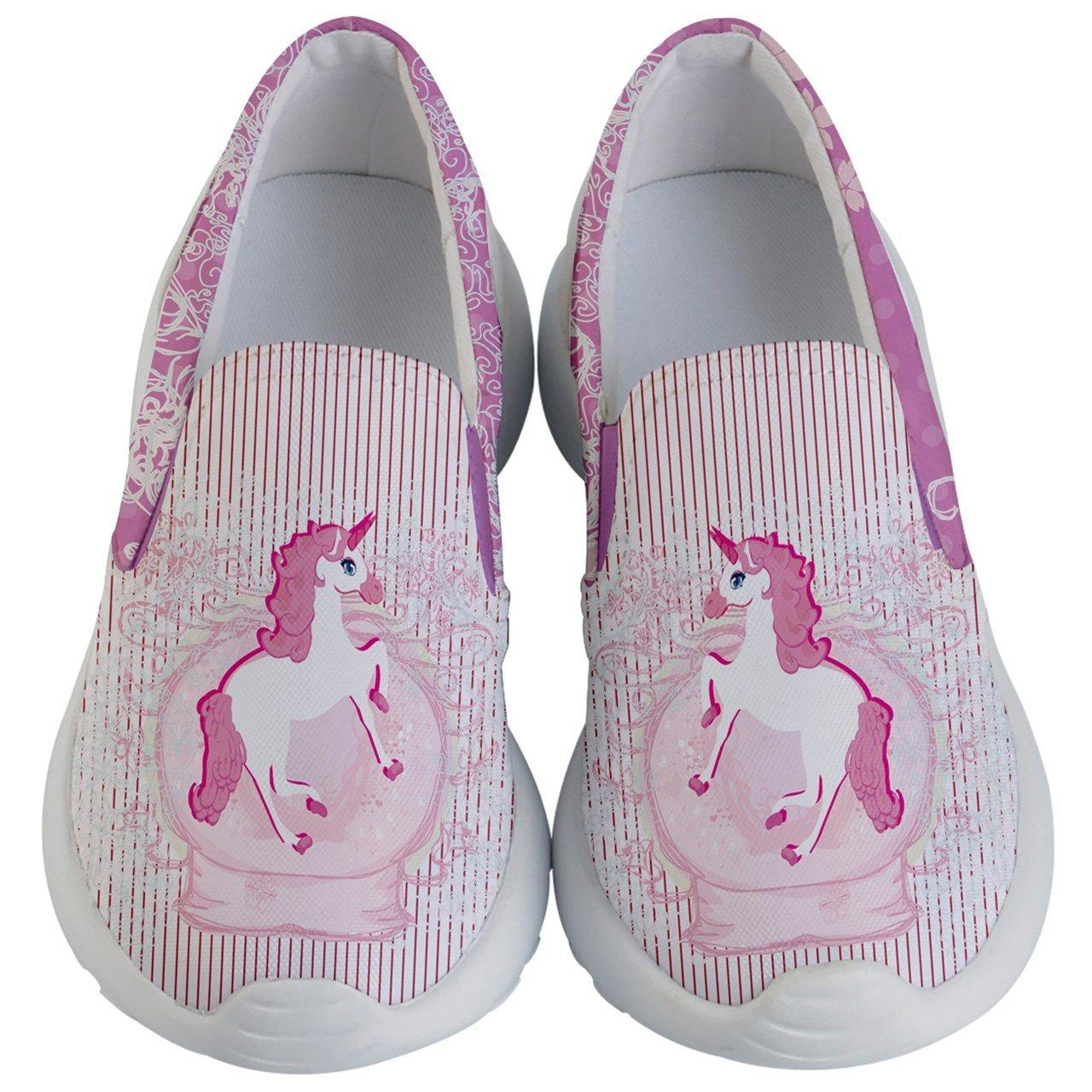 PattyCandy Girls Slip Ons Joyful Animals & Lovely Unicorn Pattern Kids Lightweight Casual Shoes, Size:US 8C-US 7Y PattyCandy-137945492