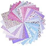 30 Pezzi 25 * 25 cm Belli Piccoli Disegni Tessuto Cotone Patchwork Misto Bundle di Piazze