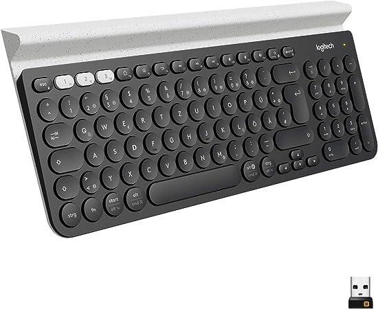 Logitech K780 Kabellose Tastatur Bluetooth 2 4 Ghz Computer Zubehör