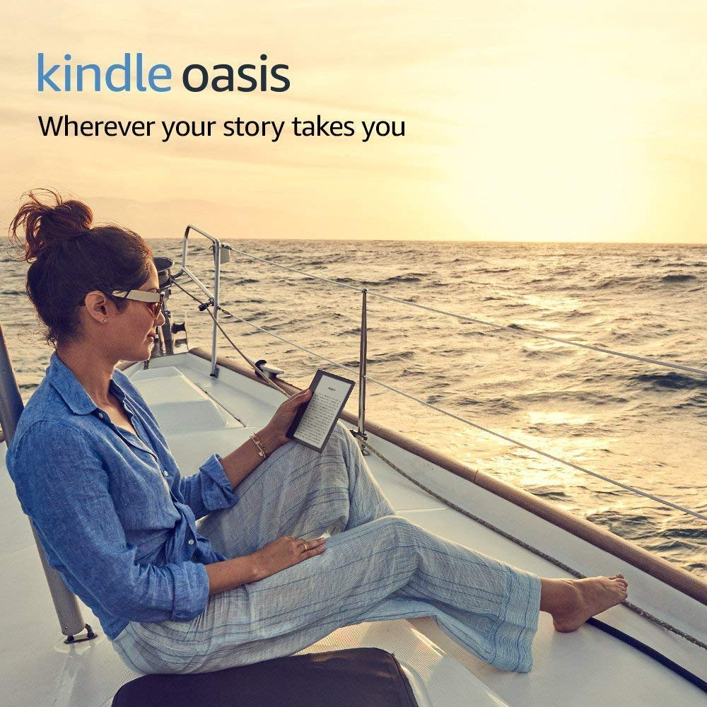 Kindle Oasis E-reader - Graphite, 7 High-Resolution Display (300 ppi), Waterproof, Built-In Audible, 8 GB, Wi-Fi - Includes Special Offers