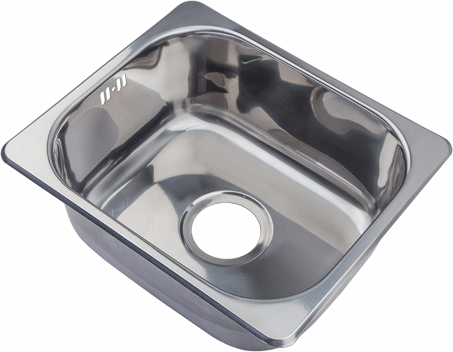Grand Taps Small Steel Inset Single Bowl Kitchen Sink (A11 mr)
