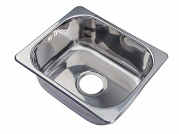 small steel inset single bowl kitchen sink a11 mr - Kitchen Sink Uk