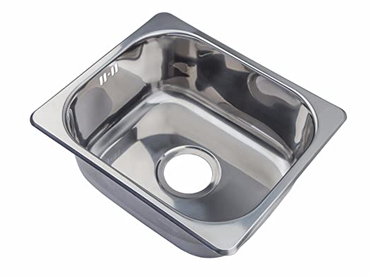 Small Sinks Kitchen Small steel inset single bowl kitchen sink a11 mr amazon small steel inset single bowl kitchen sink a11 mr amazon diy tools workwithnaturefo