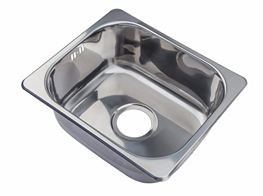 Small Steel Inset Single Bowl Kitchen Sink (A11 mr): Amazon.co.uk ...