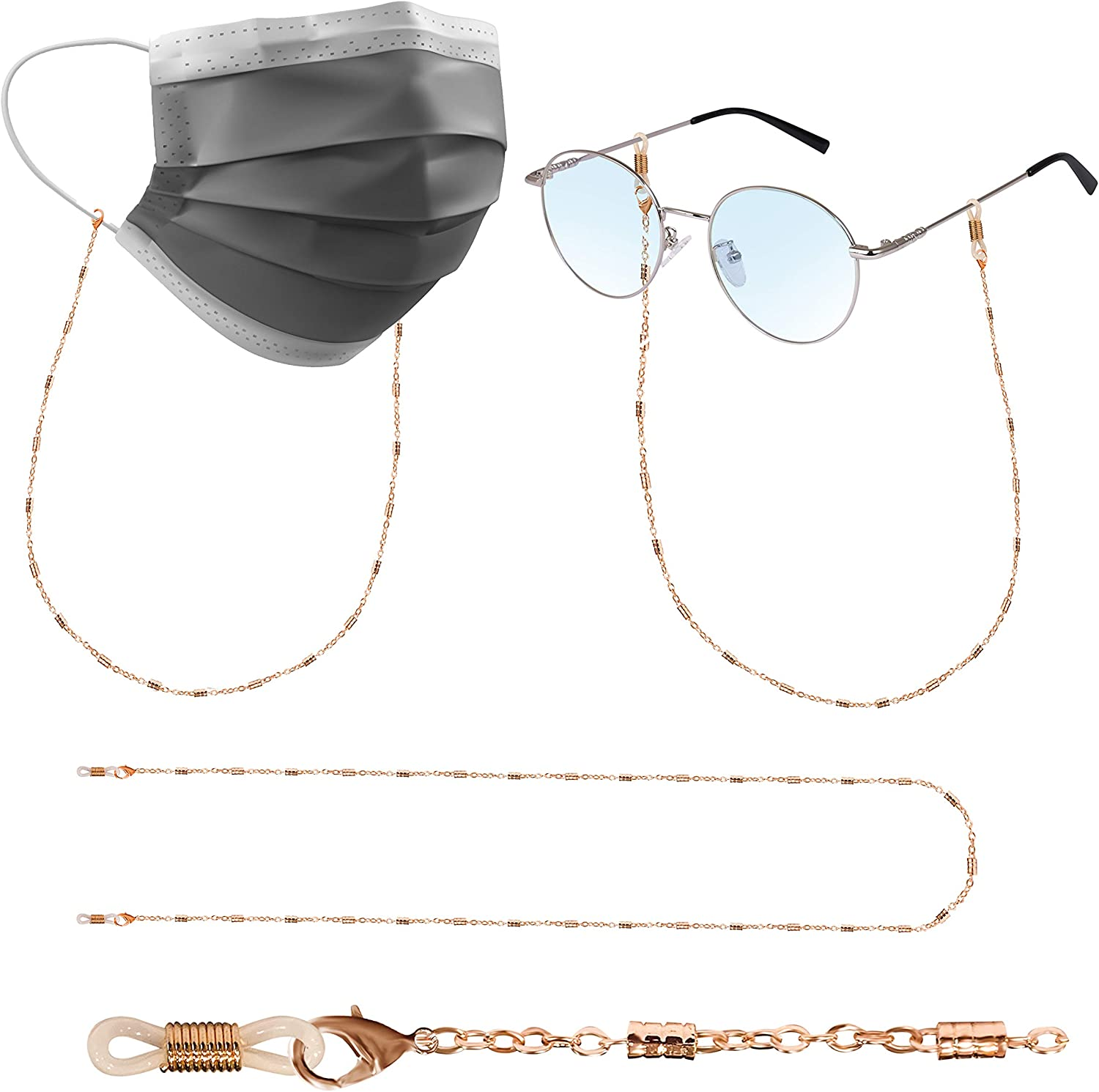 Sloong Multifunction Face Shield Mask Chain Necklace Eyeglasses Chain Strap Holder Anti-lost Mask Around Neck