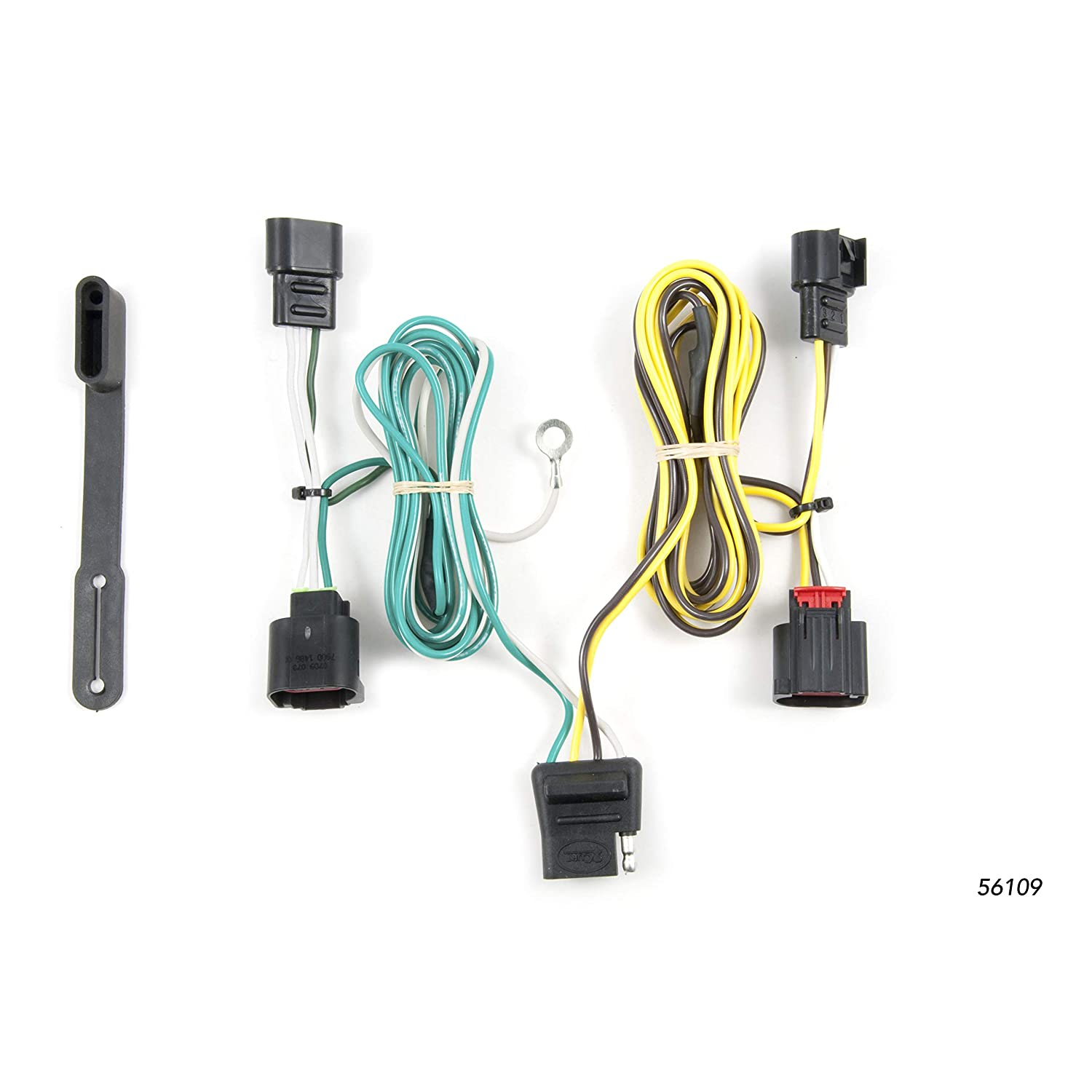 CURT 56109 Vehicle-Side Custom 4-Pin Trailer Wiring Harness for Select on