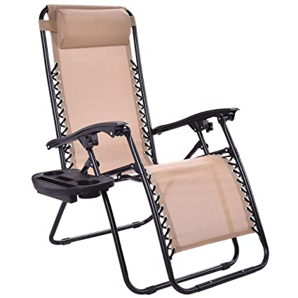 Amazon.com: Heize – Silla reclinable de jardín con bandeja ...